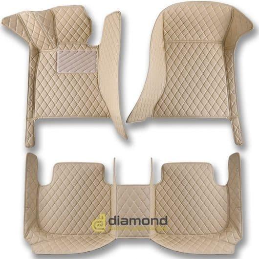 beige diamond car mats