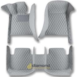 gray diamond car mats