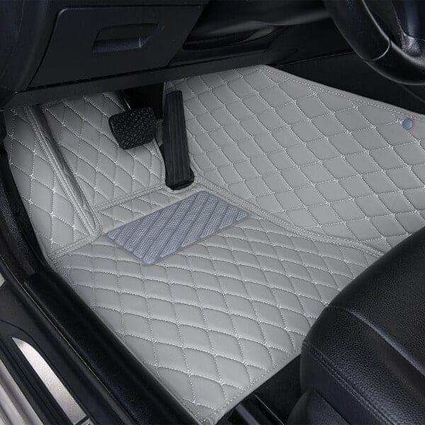 Gray Luxury Car Mats Set Diamond Car Mats
