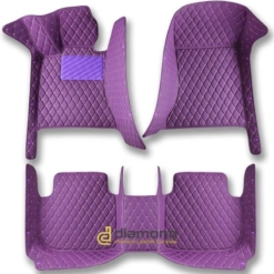 purple diamond car mats