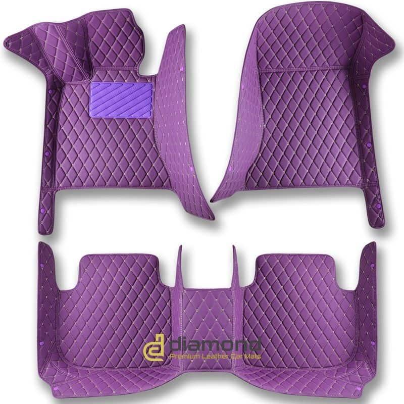 purple diamond car mats