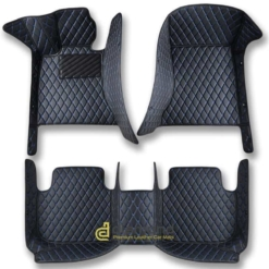 black and blue diamond car mats