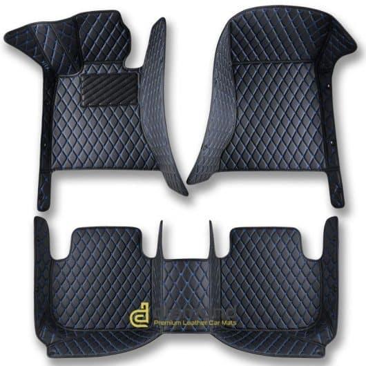 black and blue diamond car mats