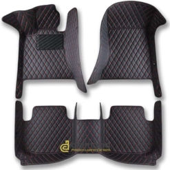 black and red diamond car floor mats