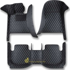 diamond car mats black and white