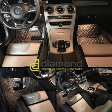 Luxury Leather Car Mats Diamond Car Mats