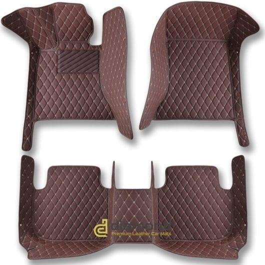 dark brown diamond car mats